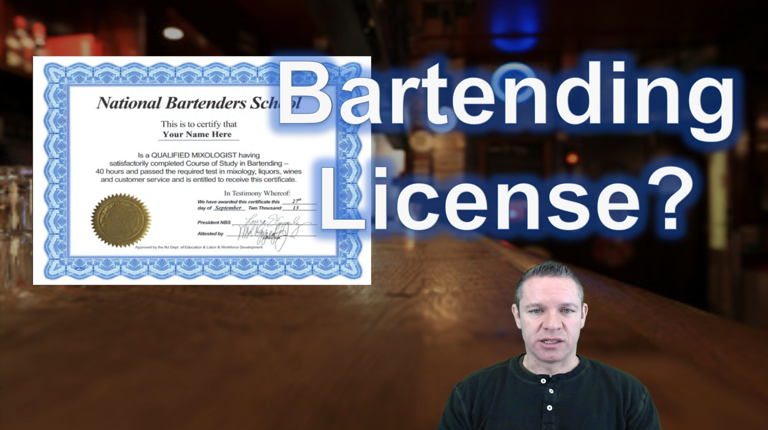 Do You Need A Bartending License Or Certificate To Bartend Dave